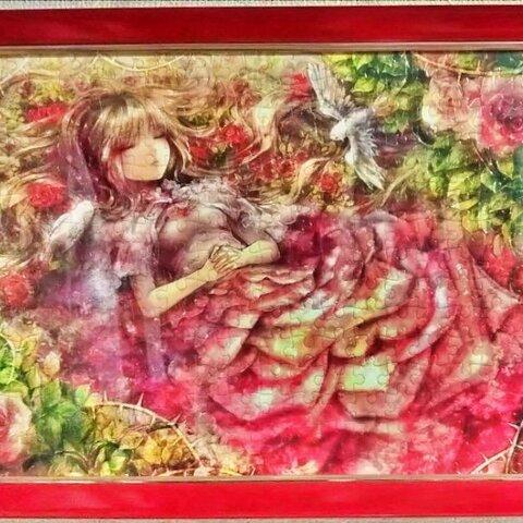 ジグソーパズル完成品:ねむり姫物語【フレーム付】