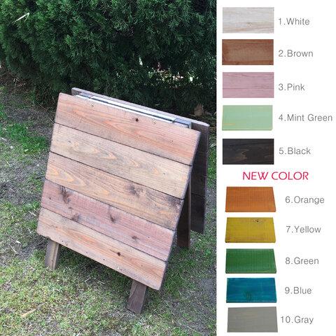 シャビーペイントの木製A型立て看板 ショート 11色より