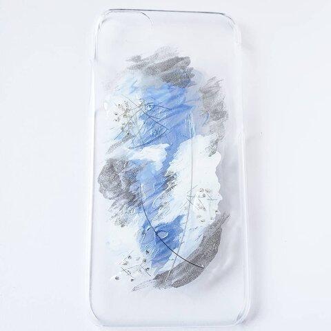 大人のブルー!ゼニスブルーのクリアスマホカバー(iPhone6/6s/7/8)