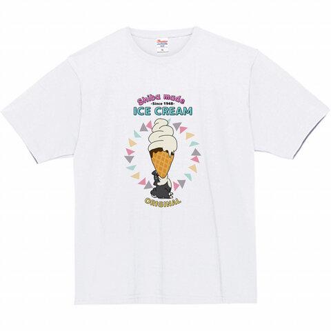 黒柴と大きなソフトクリーム◆Tシャツ