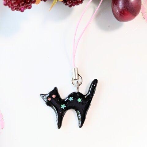 黒猫さんのストラップ