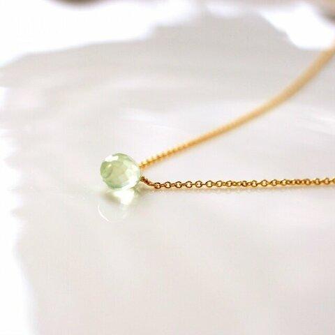 ブリオレットドロッププレナイトのネックレス ~Paolina