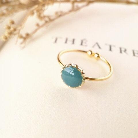 ◆秋 くすみカラー◌ブリティッシュ・グリーン🇬🇧◌【指輪/リング】◆