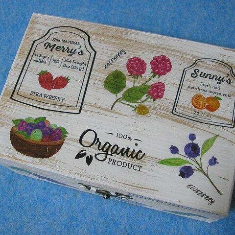 木製小物入れ ジュエリーボックス 健康食品 ハーブ オーガニック 有機野菜