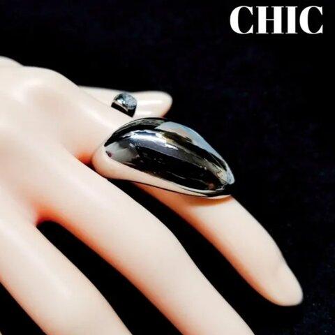 リング CHIC リング ストーン リング 指輪 シルバー ストーン シンプル  プレゼント CHICーNO.08.1