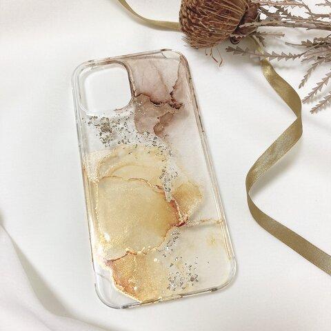 『Almond caramel』新作♡ ニュアンス ニュアンスケース キャメル ブラウン くすみカラー ニュアンスデザイン 秋 秋色 iPhone13