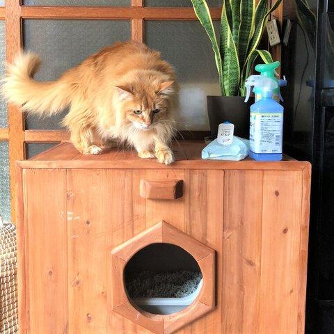 柿渋塗ネコのくつろぎボックス