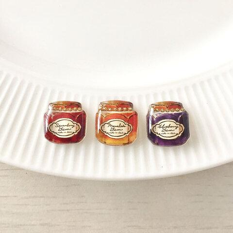 jam earring(カラー備考欄ご記入)【秋冬食べ物かわいいジャム瓶イヤリング・ピアス】