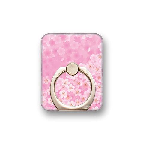桜16 スマホリング