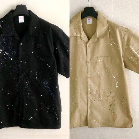 スプラッシュペイント / オープンカラーシャツ