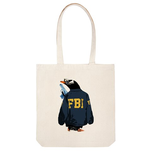 [トートバッグ] FBI penguin
