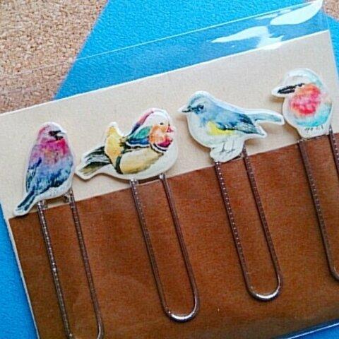 イラストクリップ~カラフル小鳥♪♪オシドリセット~