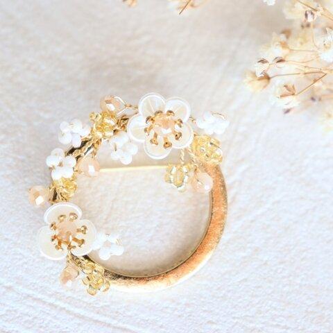 桜 きらきら 小枝ブローチ