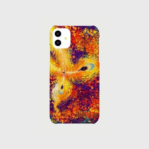 ひのとりのおっぽ/iPhone/スマホケース/レッド/オレンジ/イエロー/パープル/火の鳥