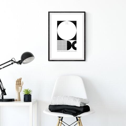アートポスター【成功の鍵】 2L判〜キャンバス仕上げも対応 モノクロポスター 名言 ピカソの名言