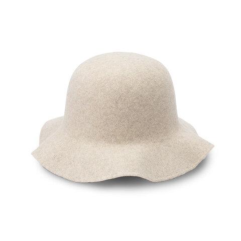 RONDE ロンド フレアハット ウール 帽子 ホワイト [YO-BR006-WH]