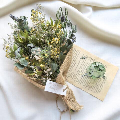 Autumn green dryflowers mini swag 秋のドライフラワースワッグ ハロウィン 秋