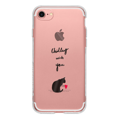 Cat with Heart 12 SE 11 XS XR 8 7 Plus 6 5 iPhone ケース