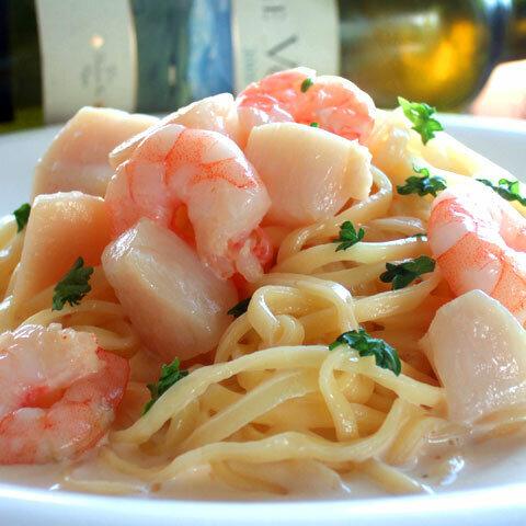 【生パスタ麺&ソース】 海老と帆立貝のクリームソース 1人前