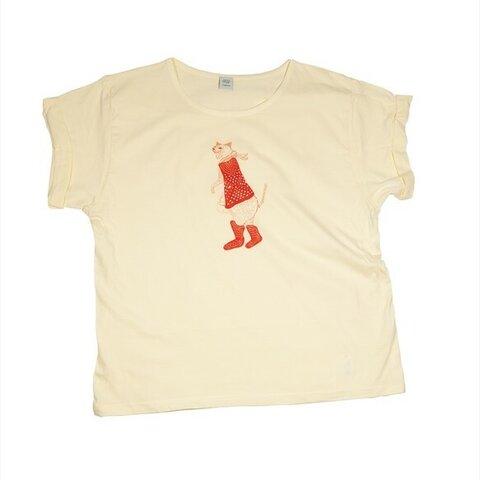 長靴を履いた猫 Tシャツ レディース フリー Tcollector