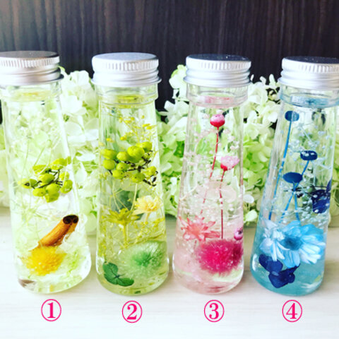 colorful mini bottle~ハーバリウム~