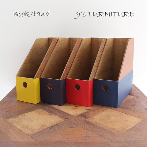 【受注生産】ブックスタンド 本立て オリジナル 4色 Bookstand-2
