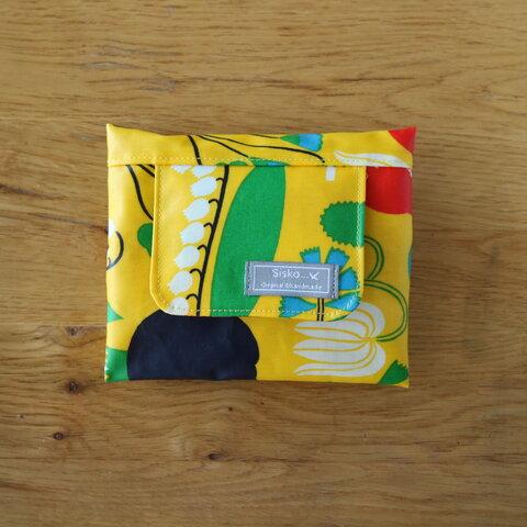 ミニサイズ お手拭き入れ ウエットティシュ入れ ポーチ  yellow  おしりふき入れ お手拭き入れ おしりふきポーチ ラミネート ビタット 出産祝い