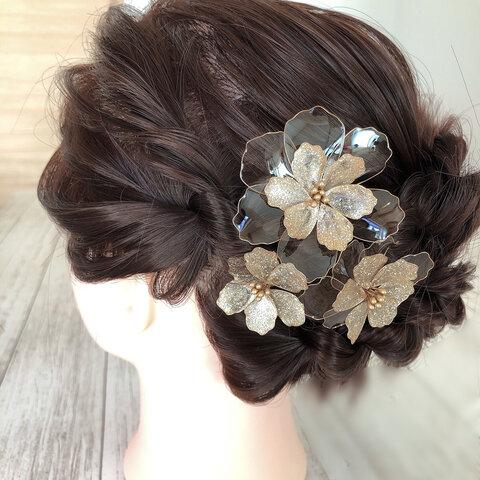 アメリカンフラワーのヘッドドレス