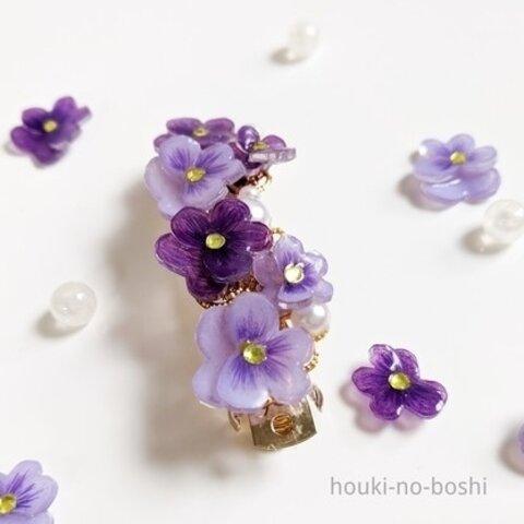 【再販】ビオラのフェミニンバレッタ(紫)
