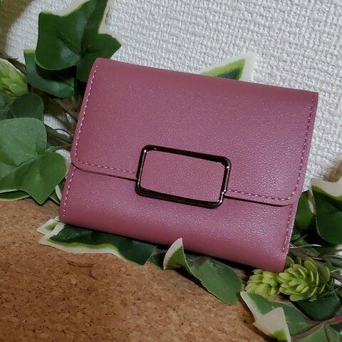 セール品 コンパクトウォレット ミニウォレット 薄ピンク シンプルウォレット