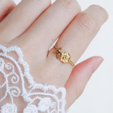 薔薇のリング・ミニ(ゴールド)