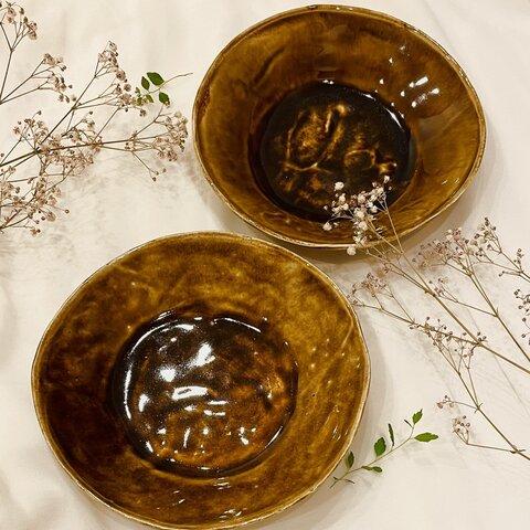 土星のお皿 2つセット 丸皿 食器 陶器 お皿