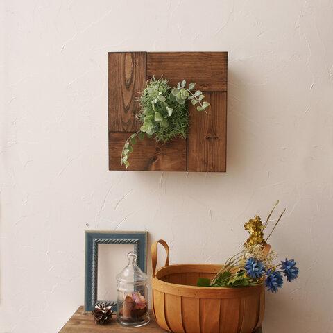 パカっと開く!玄関飾りディスプレイ&キーラックになる壁掛けフェイクグリーン