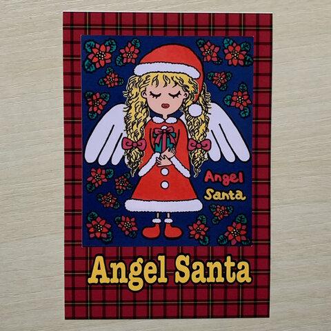 【選べるポストカード2枚セット】【作品No.29】『Angel Santa』