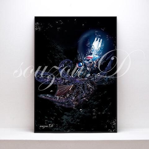 A3グラフィックアートポスター「octopus」