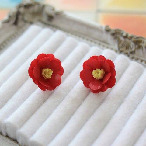 【特集掲載】和装も洋装もOK☆赤椿のお花ピアス