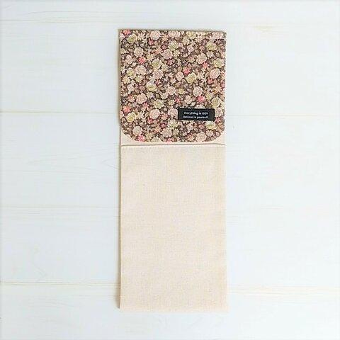 秋の訪れナチュラル小花のトイレットペーパーホルダーカバー~ブラウン~