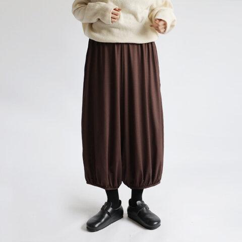 ⁂新作『裾ギャザーゆったりサーカス パンツ』85cm丈 シルクのような上質とろみ伸縮Tシャツ・カットソー素材K68A