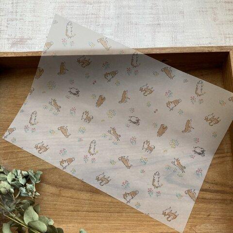 透ける模様紙【SHIBA(ホワイト)】