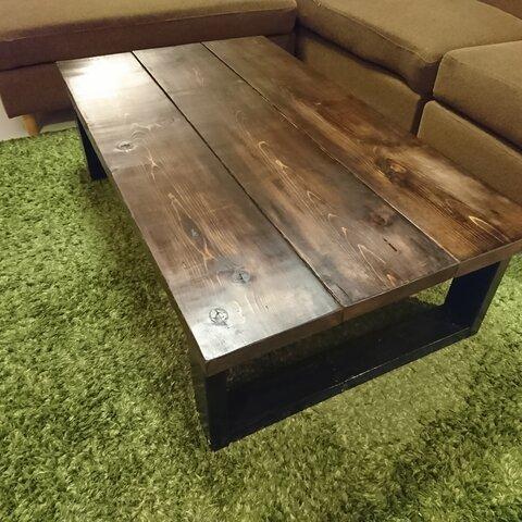 無垢材 センターテーブル  天板厚約4cm  リビングテーブル ローテーブル