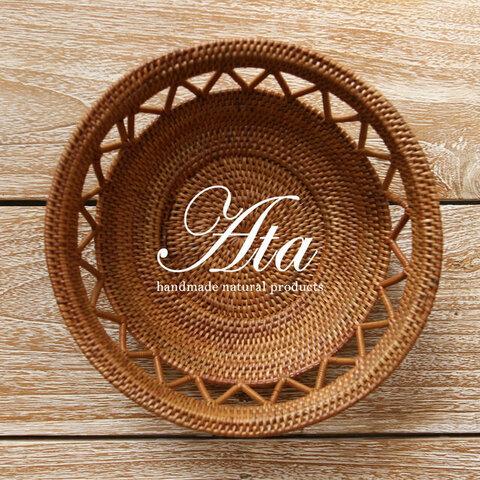 アタ製 かわいい丸いベジタブルストッカー 根菜入れ かごA39(根菜かご、ボウル、皿、小物入れ、お菓子入れ、果物かご)