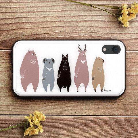 だらりとした動物たちのスマホケースE:iPhone専用【受注生産:お届け約2週間】