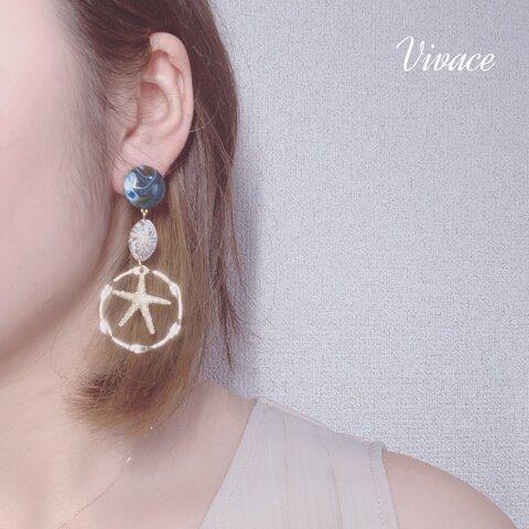 ocean gold earring
