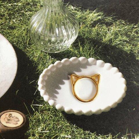 送料無料✴︎再販♡gold cat ring♡ピンキーリングorファランジリング