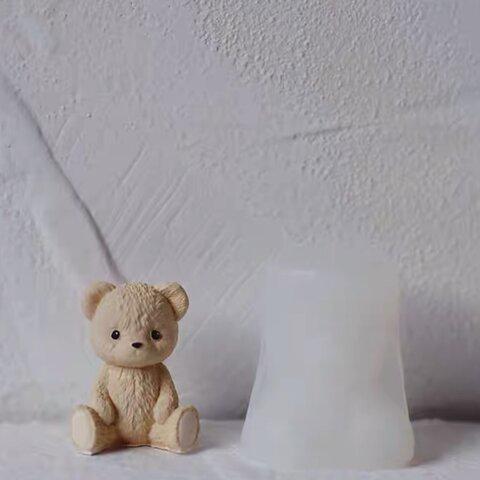 1p Nart Candle ぬいぐるみクマさん(小)のモールド シリコンモールド キャンドルモールド くま ぬいぐるみ