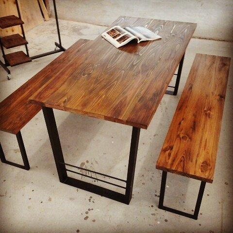 ダイニングテーブルセット‼️ダイニングテーブル 150×70cmベンチ2脚128cm