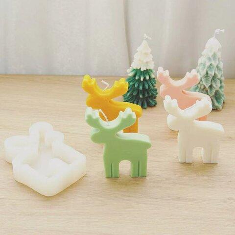 1p Nart Candle クリスマス鹿のモールド シリコンモールド キャンドルモールド クリスマス 鹿