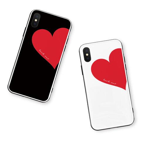 Big Heart♡Red 強化ガラスケース/iPhoneケース/iPhone11Pro/iPhone12mini/iPhone8