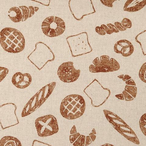 キャンバス生地【50×110cm】 パン フランスパン 食パン コロネ ナチュラル 入園入学 綿麻 生地 布 ブラウン
