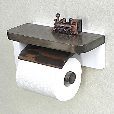 木製トイレットペーパーホルダーVer.5S(ライトウォルナット)